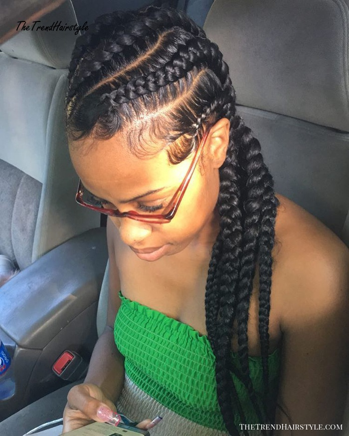 Criss Cross Goddess Braids 70 Best Black Braided