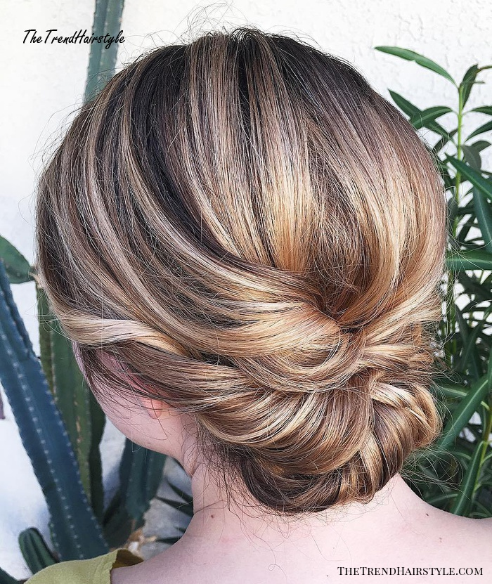 lovely twisted and tied updo  60 easy updo hairstyles for