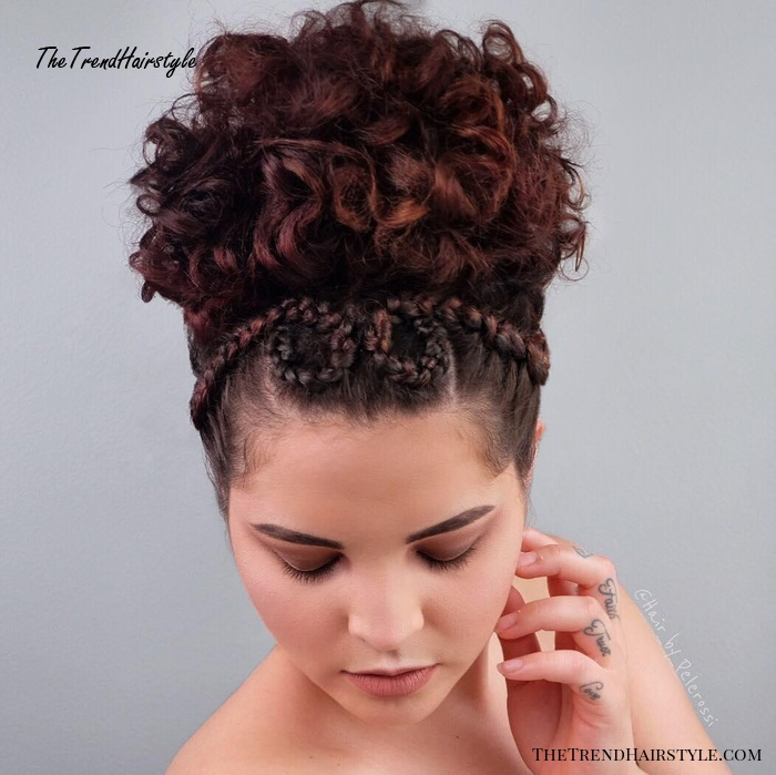 Elegant Curly Updo for Shorter Hair