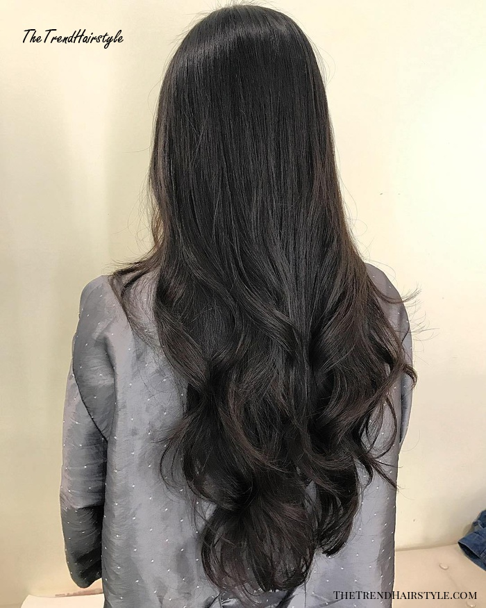 Extra Long Layered Wavy Hairstyle