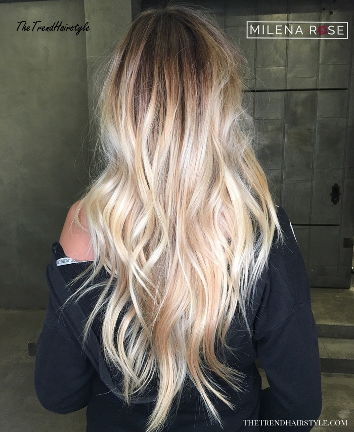 Shaggy Blonde Waves 40 Picture Perfect Hairstyles For Long Thin Hair The Trending Hairstyle