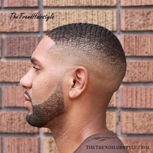 Extra Short Fade With Waves