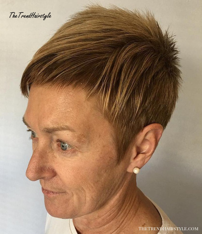 Extra Short Spike Pixie Over 50