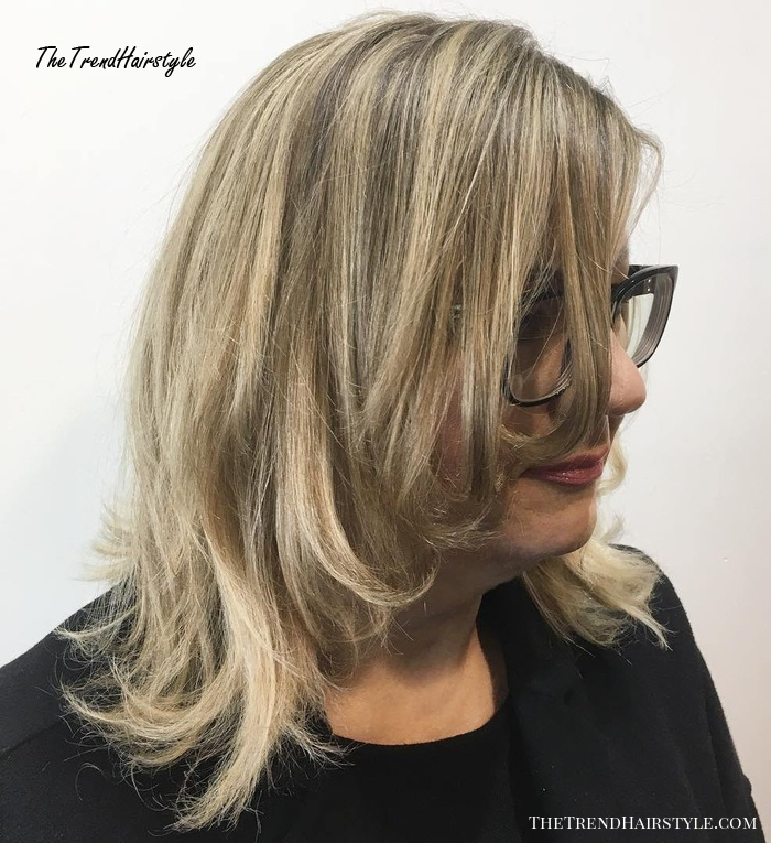 Face-Framing Layered Haircut For 50-Year Olds