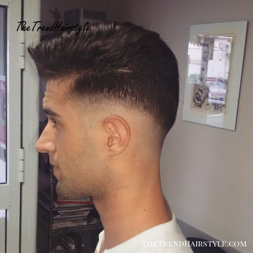 Fade haircut with shaved earline