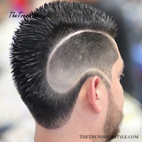 Fauxhawk for men with shaved side designs
