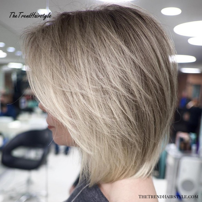 Feathered Bob with Side Bangs