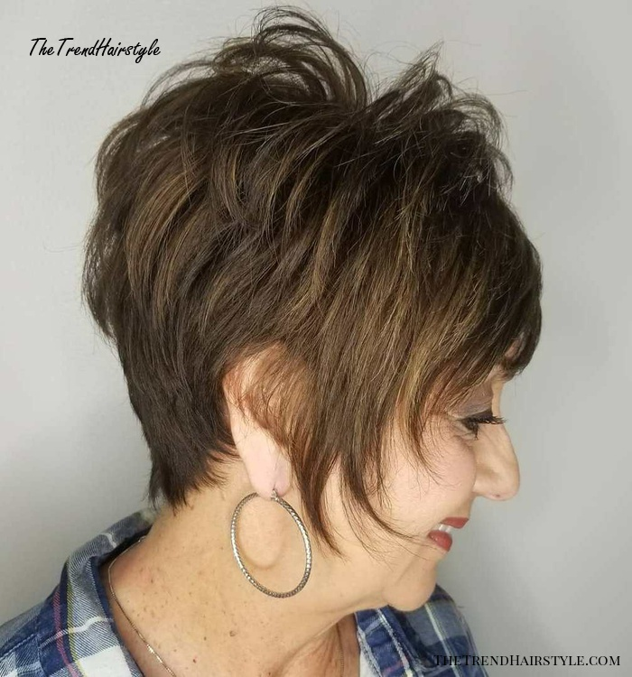 Spiky Pixie With Long Face Framing Pieces 20 Best Short Hairstyles And Haircuts For Women Over 60 The Trending Hairstyle