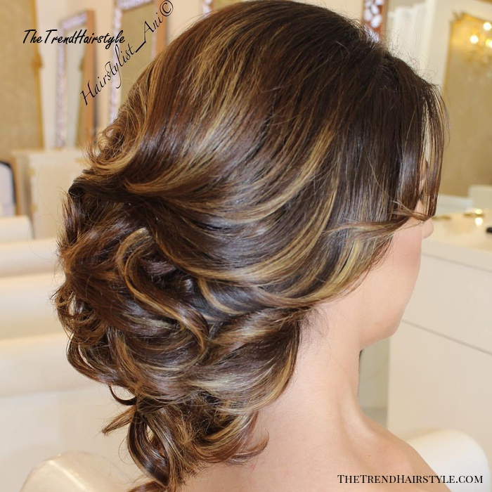 Formal Loose Curly Hairstyle