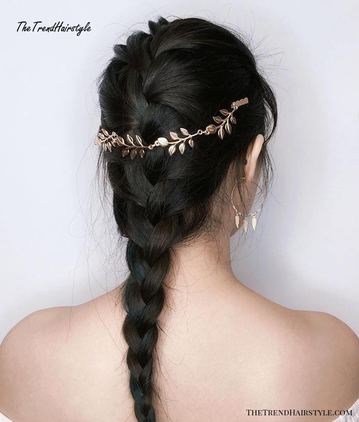 French Braid With Jewelry