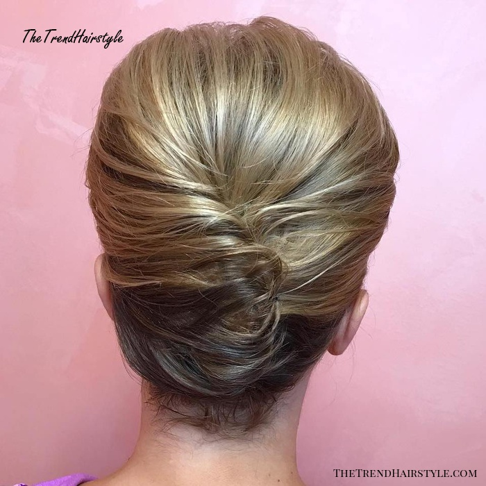 French Twist For Short Hair