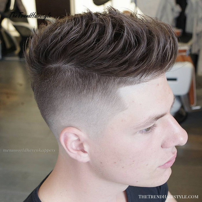 Front Combed Faux Hawk