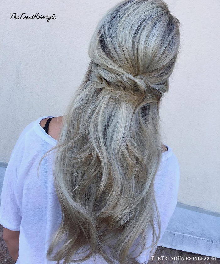 Half Updo For Long Layered Hair