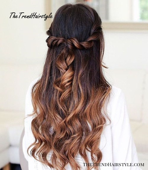 Pretty Mermaid Esque Updo 50 Half Up Half Down Hairstyles For Everyday And Party Looks The Trending Hairstyle