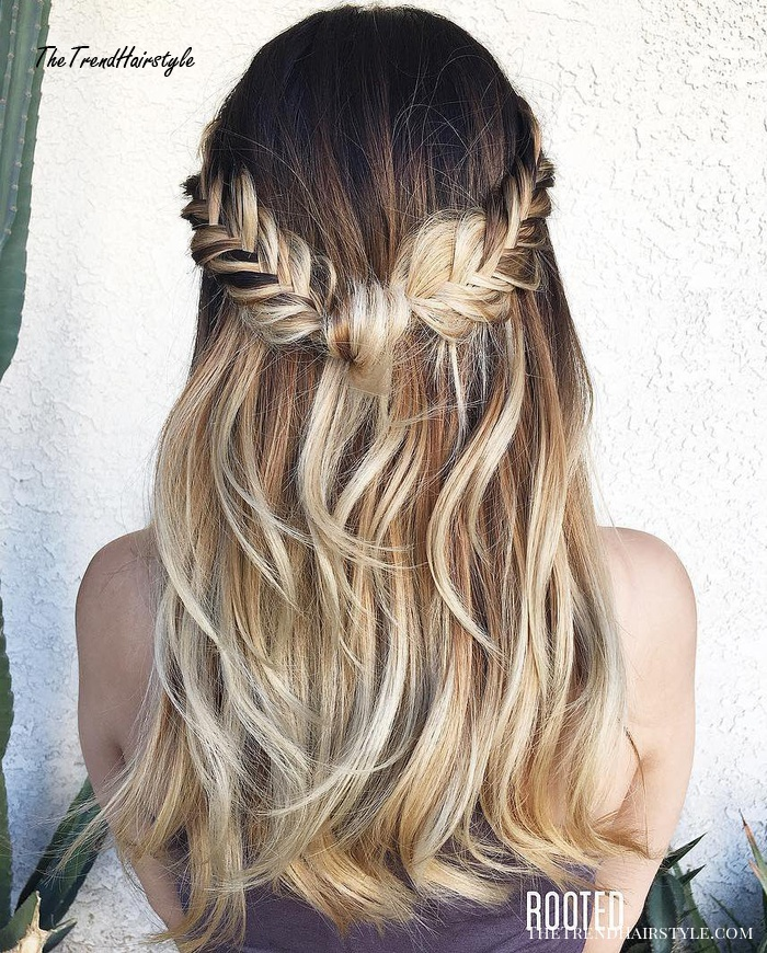 Half Updo With A Lace Braid