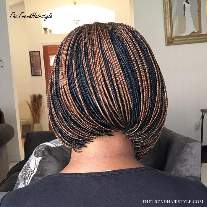 Highlighted Microbraids Bob