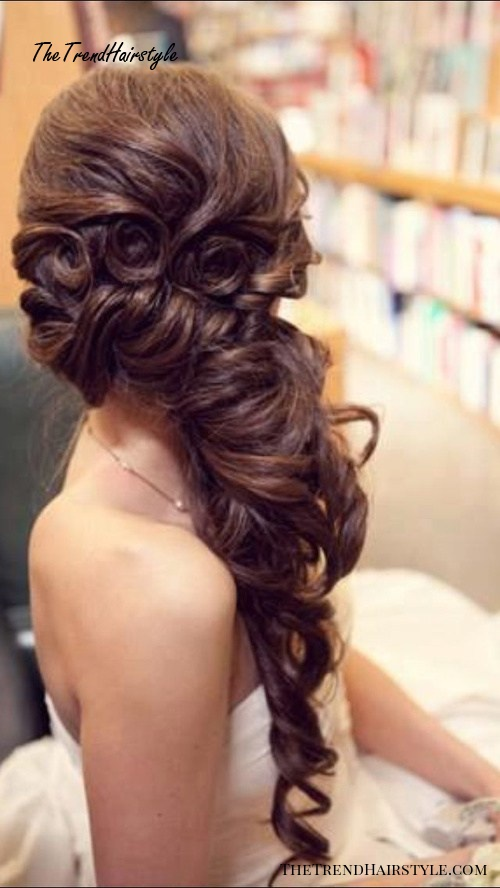 Indian wedding curly hairstyle