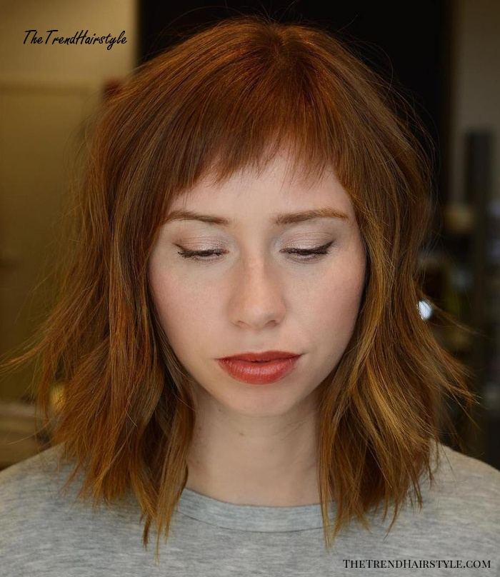 feathered wispy baby bangs  short bangs as a musthave