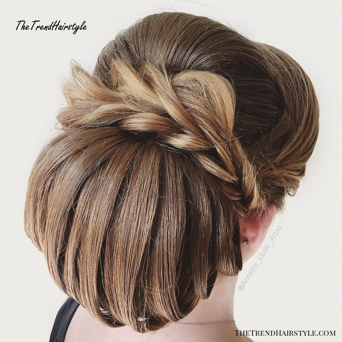 Large Looped Chignon Updo
