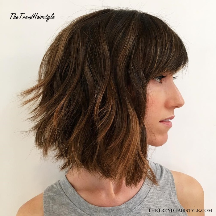 Layered Bob Cut For Thick Hair