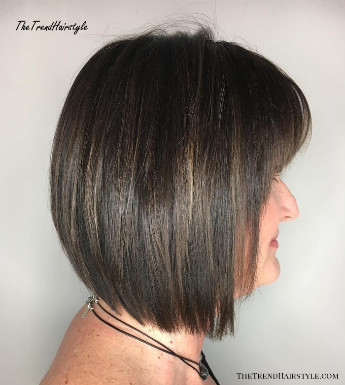 Layered Bob With Bangs For Straight Hair