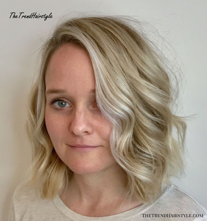 Light Blonde Bob With Silver Face-Framing