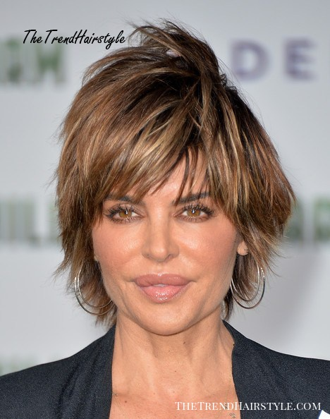Dimensional Brown Shag 30 Spectacular Lisa Rinna Hairstyles The Trending Hairstyle