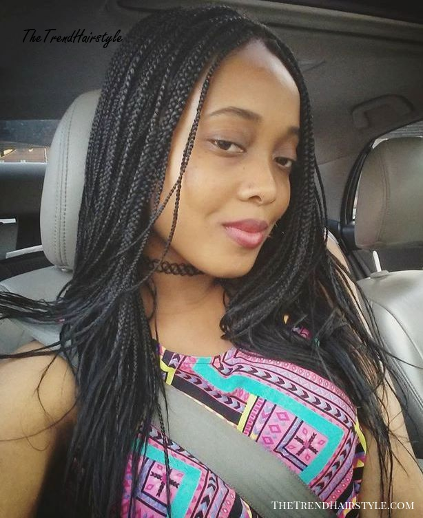 Layered Micro Box Braids 40 Ideas Of Micro Braids Invisible Braids And Micro Twists The Trending Hairstyle