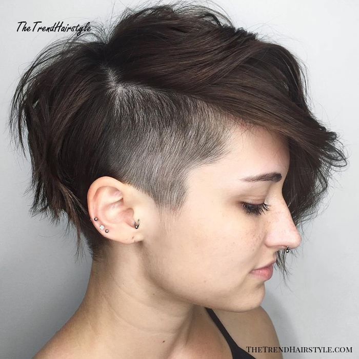 Feminine Pixie Cut with Asymmetrical Undercut , 20 Inspiring