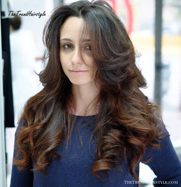 Long Curly Hairstyle For Thick Hair