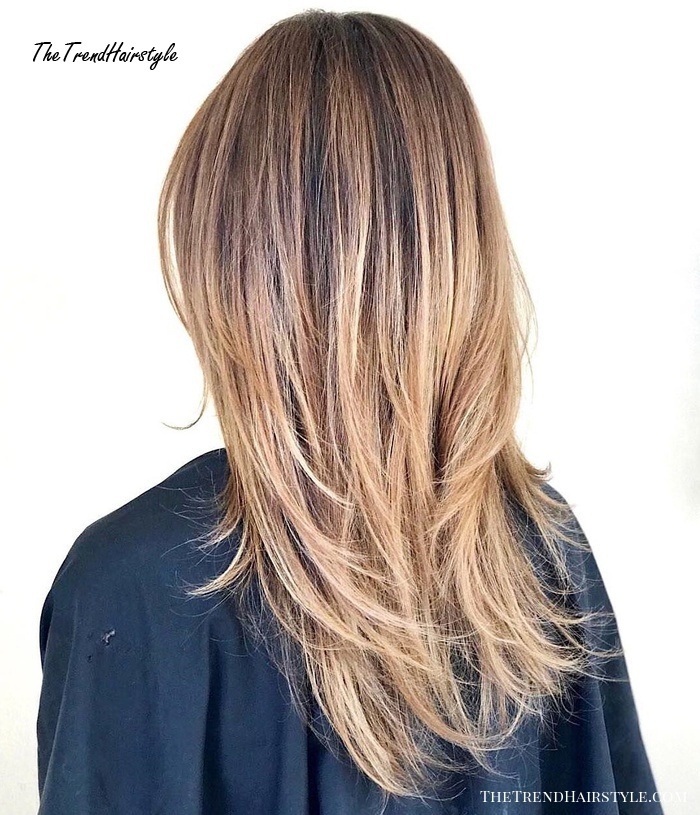 Long Hair With Mid-Shaft-To-Ends Layers