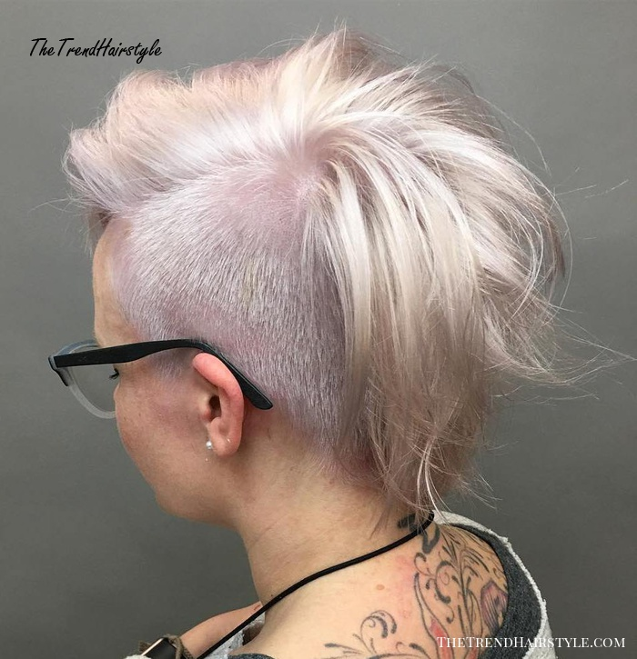 Long Half Shaved Pixie