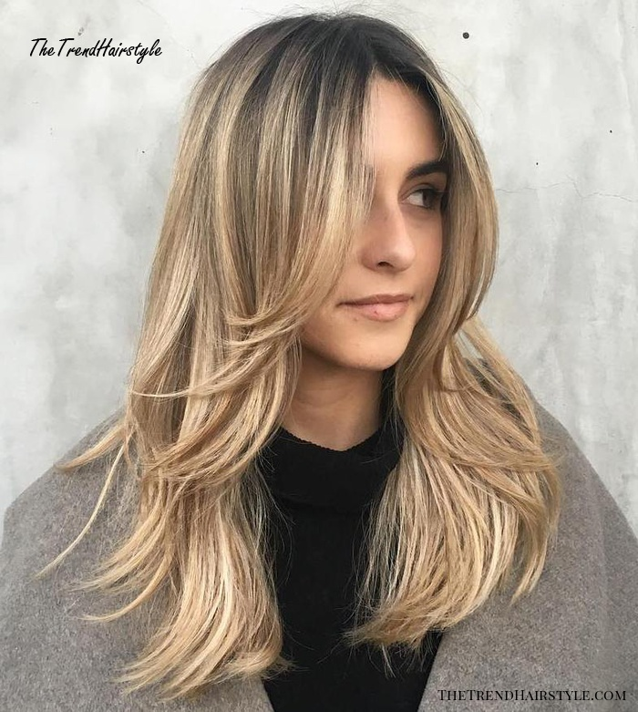 long haircut with rounded featherlike layers  50 cute