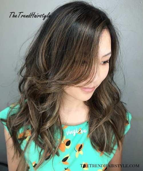 Long Layered Brunette Hairstyle