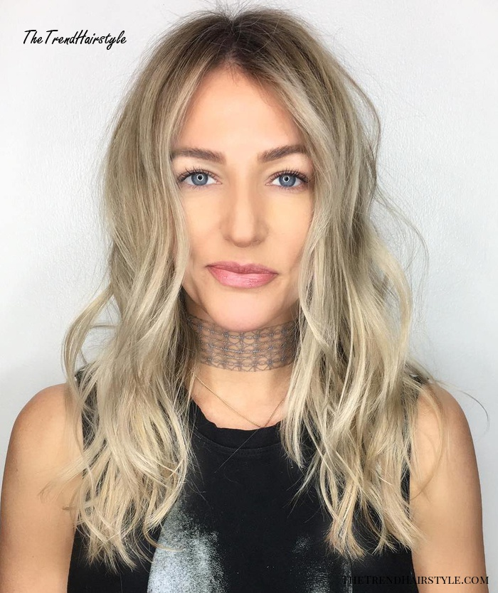 Long Layered Messy Hairstyle