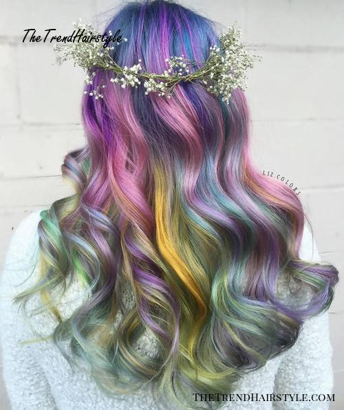 Long Pastel Mermaid Hair