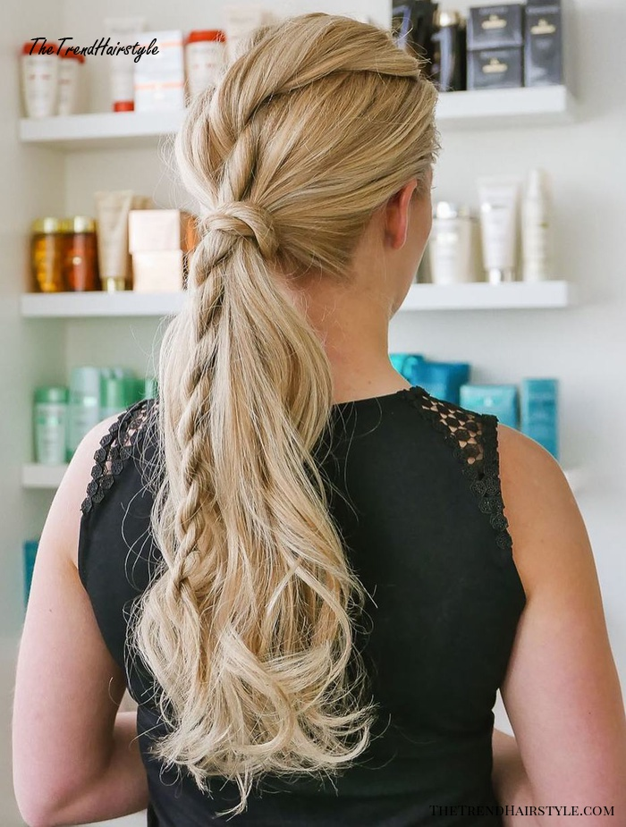 Long Ponytail With Twisted Detail
