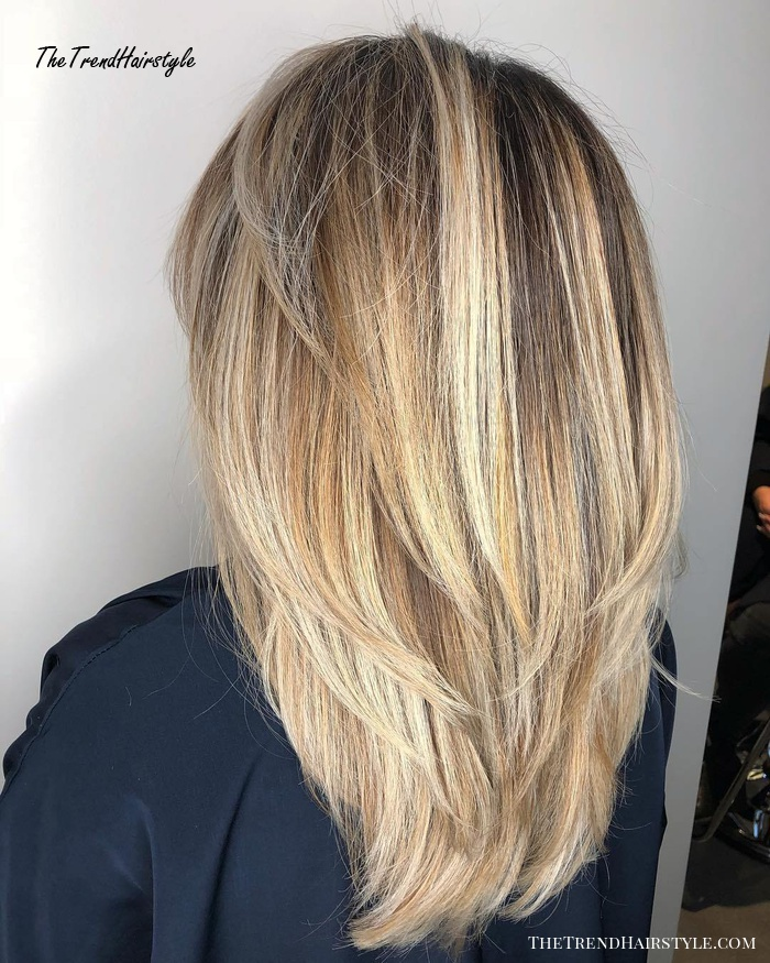 V-cut Layers for Straight Thick Hair - 80 Cute Layered ...