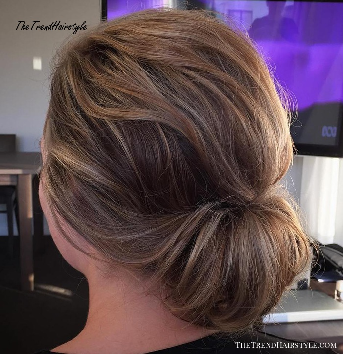 simple and elegant chignon  60 easy updo hairstyles for