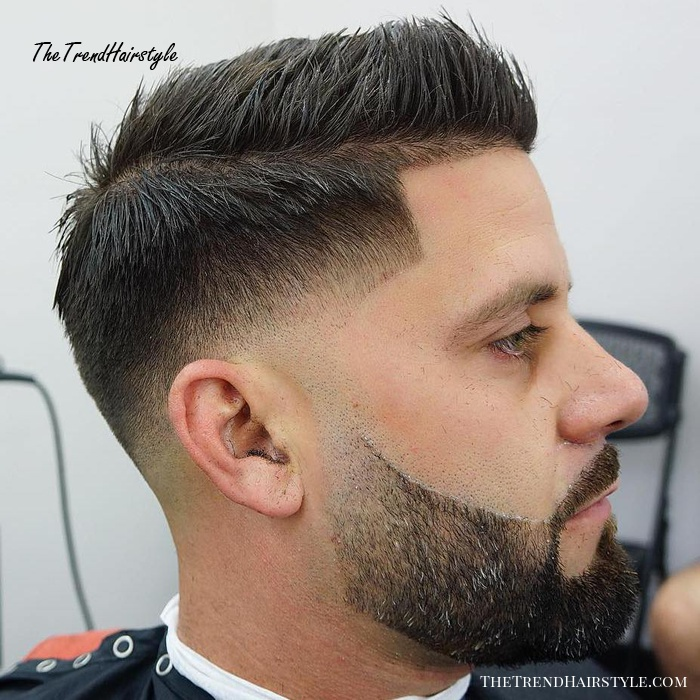 Low Fade With Spiked Top