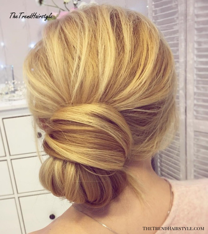 Low Knotted Bun Updo