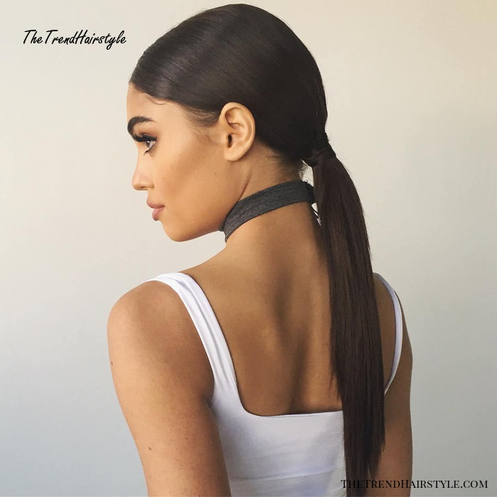 Low Ponytail For Straight Hair