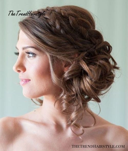 Low Side-Bun with Double Braid