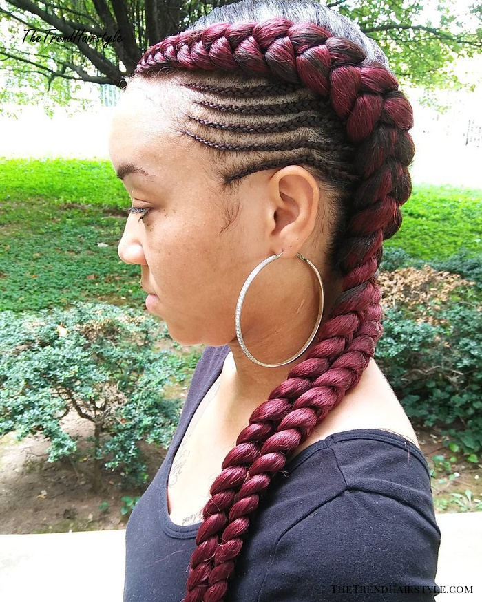 Marsala Braids For Black Women