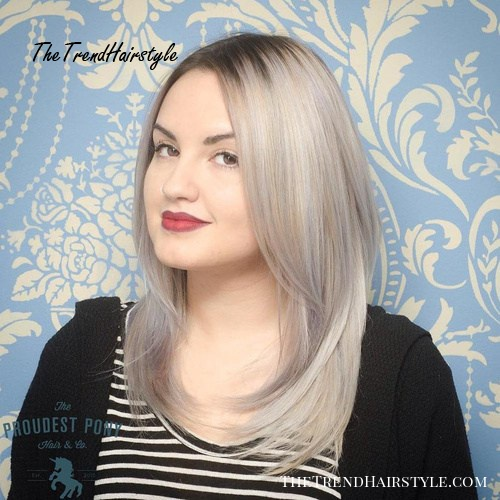 Straight Hair Round Face Straight Hair Long Layered Hairstyles 83