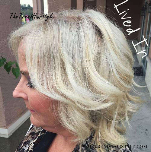 Medium Blonde Hairstyle For Women Over 50