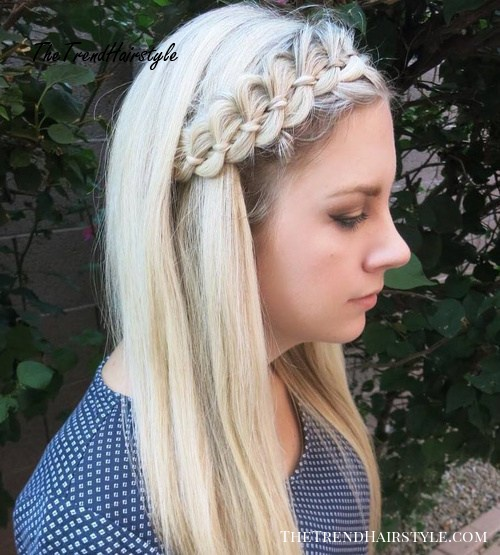 Medium Hairstyle With A Ribbon Braid