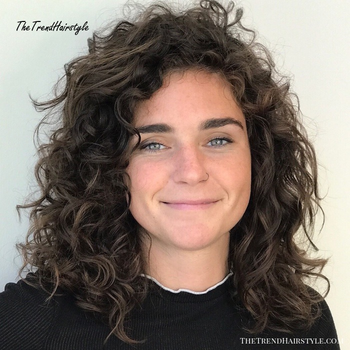 Medium Layered Cut for Curly Hair