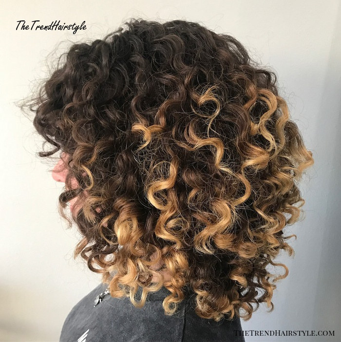Medium Natural Highlighted Hair