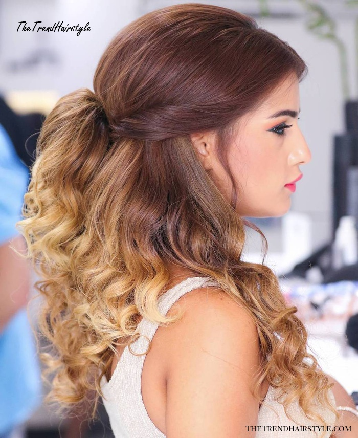 Medium-To-Long Brown Blonde Ombre Hair